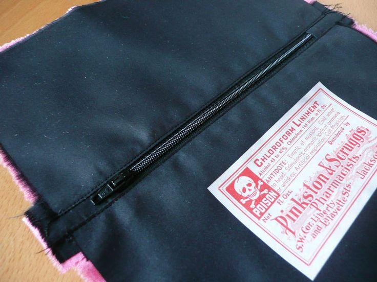 Tuto trousse doubl e et zipp e jolis bords de zip for Trousse de couture ancienne