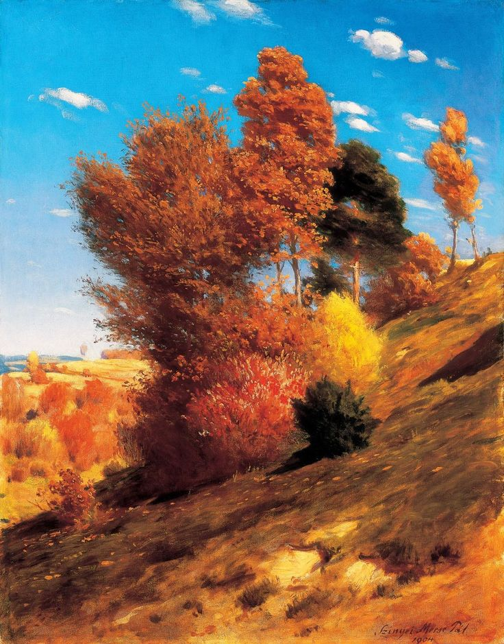 Artist: Pal Szinyei Merse, Title: Autumn, 1904