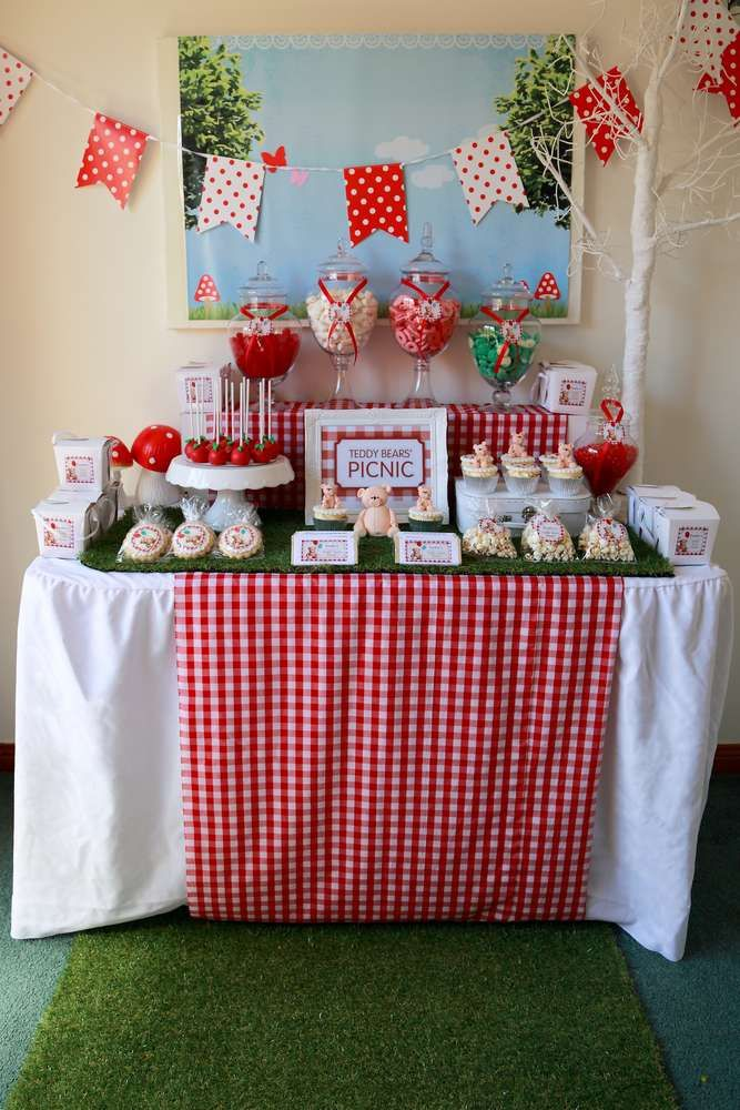 Teddy Bear Picnic Birthday Party Ideas | Photo 1 of 10 | Catch My Party
