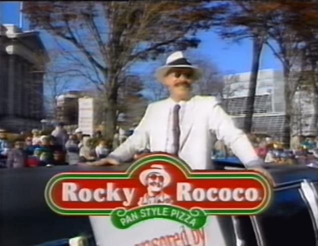 """James Martin Pedersen, the man who played the character of """"Rocky Rococo"""" for the beloved Rocky Rococo pizza franchise, has died"""