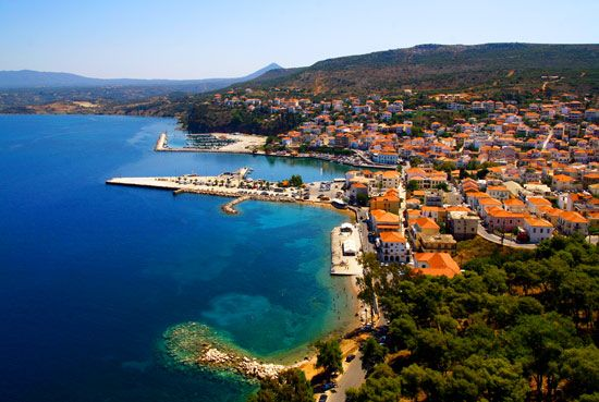 Pylos Bay in Greece was the site of two naval battles, The Battle of Pylos, in 425 BC during the Peloponnesian War and The Battle of Navarino in 1827 during the Greek War of Independence.