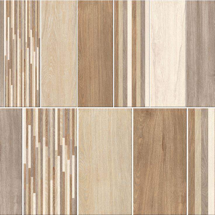 Gresie portelanata Canada 60x30cm si 60x20cm, cu design de lemn natural
