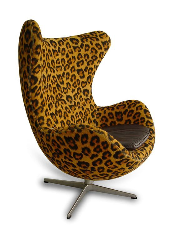 Leopard print chair