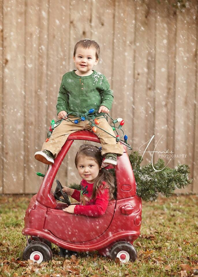 Christmas Picture /. Kids Sibling Christmas Photography