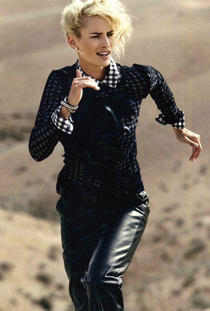 Jessica Van Der Steen - Louis Vuitton leather pants