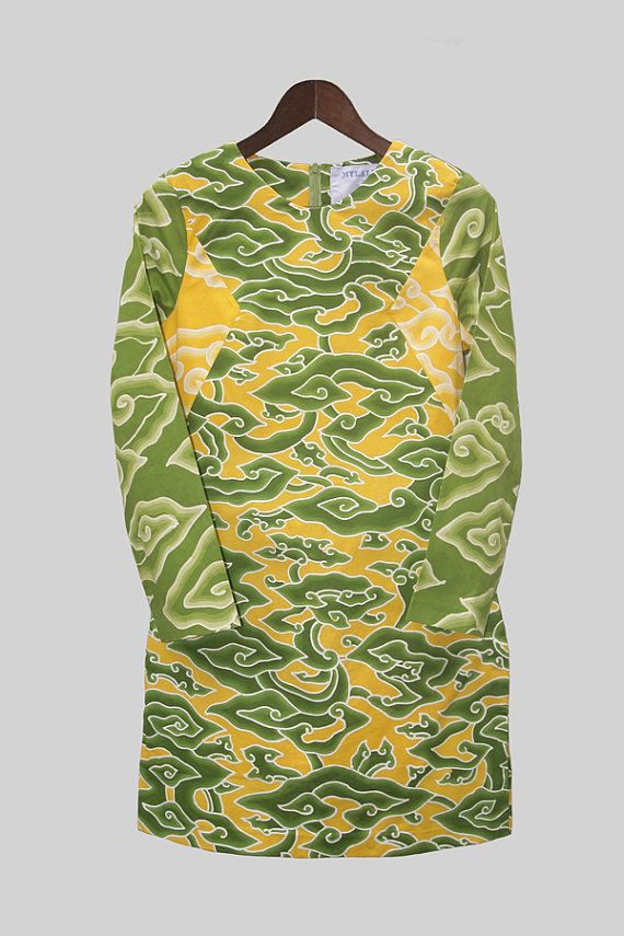 Yellow Green Batik Tunic by mylalitastyle on Etsy, $85.00