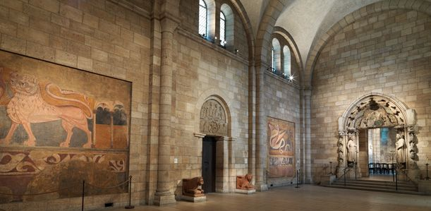 Romanesque hall the cloisters part of medieval art and for C furniture coningsby
