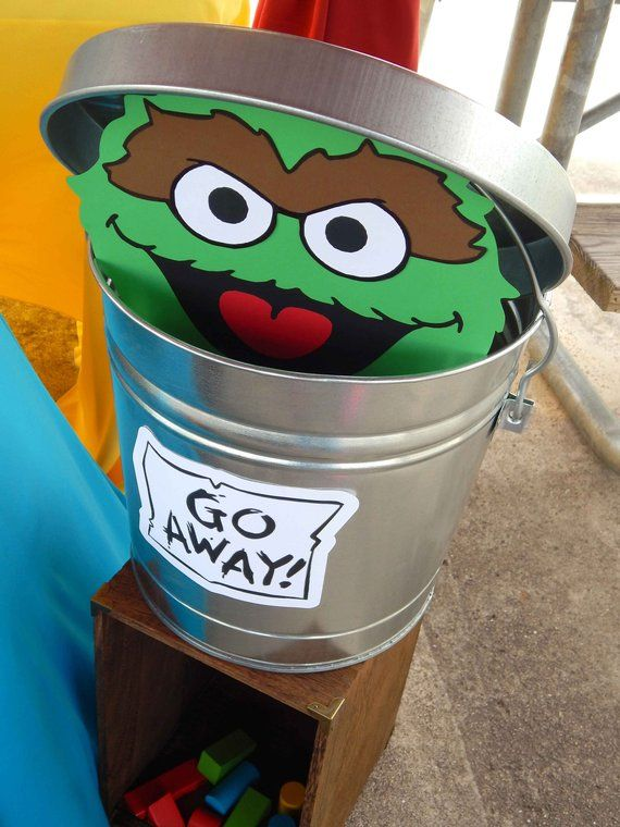 Instant Download Oscar The Grouch Trash Can Lid And Sign In