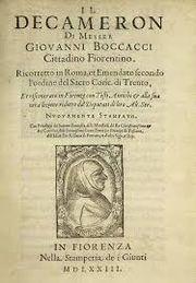 1348, The Decameron, Giovanni Boccaccio, Florence Italy #TheDecameron #GiovanniBoccaccio (L10382)