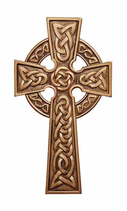 Beautiful Irish Celtic Wall Cross. This Cross has the traditional Irish knots. Made of resin and hand painted silver color accents to bring out the beauty of the cross. Made with lead free pewter Meas