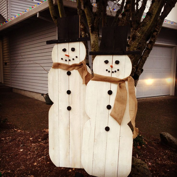 Fence board snowmen made by my hubby crafty crafty pinterest snowman fence and fence boards - How to make a snowman out of wood planks ...