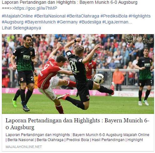 Laporan Pertandingan dan Highlights : Bayern Munich 6-0 Augsburg ===>>https://goo.gl/iw7hMP  #MajalahOnline #BeritaNasional #BeritaOlahraga #PrediksiBola #Highlights #Augsburg #BayernMunich #Germany #Budesliga #LigaJerman  Jangan Lupa ikuti dan Like Fanpage kami ( @ Majalah Online ) Just Follow Majalah online .. \=D /  AFILIASI : #MajalahOnline , #MandiriTogel , #MajalahMandiri #Mandiri88 #MentariMovie ( Nonton Online Subtitle Indonesia )