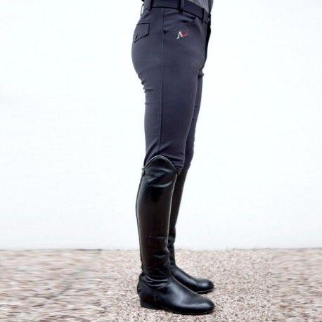 Pantalon d'équitation homme gris Alexandra Ledermann Sportswear : Tao Microfibre Gris Smoke