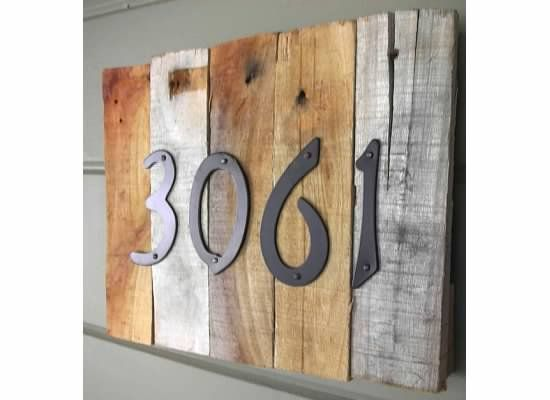 All Things Lovely Daily Deals-Wood House Numbers - products