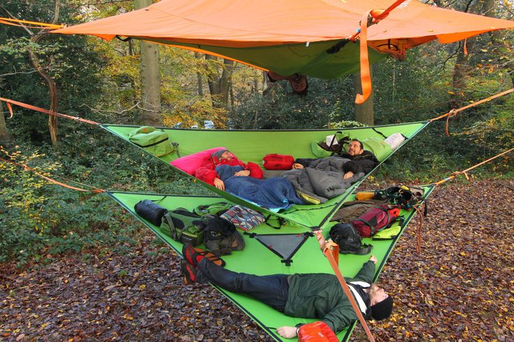 Tentsile!  I've been hammock camping for years, but this looks awesome in combo with some slackline & tree climbing gear!