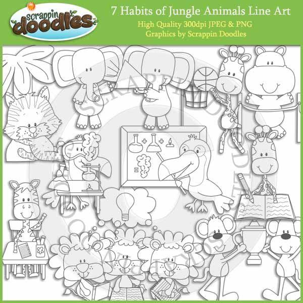 Line Art Jungle Animals : Best images about habits on pinterest trees jungle