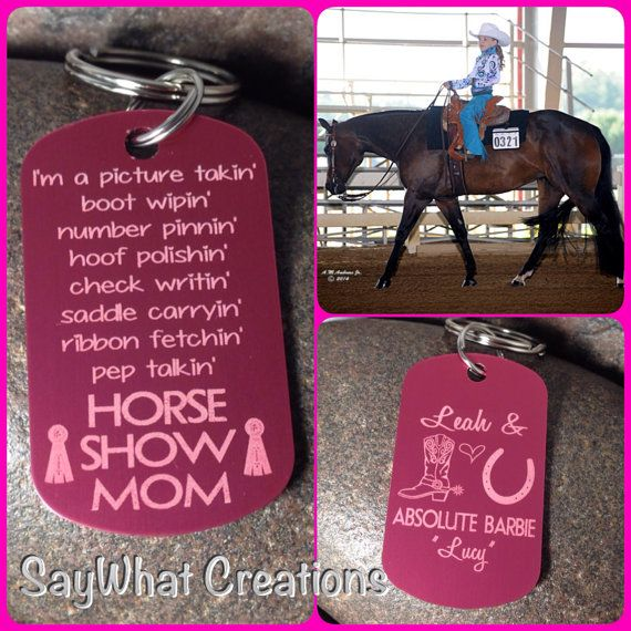Horse Show Mom personalized key chain by SayWhatCreations on Etsy