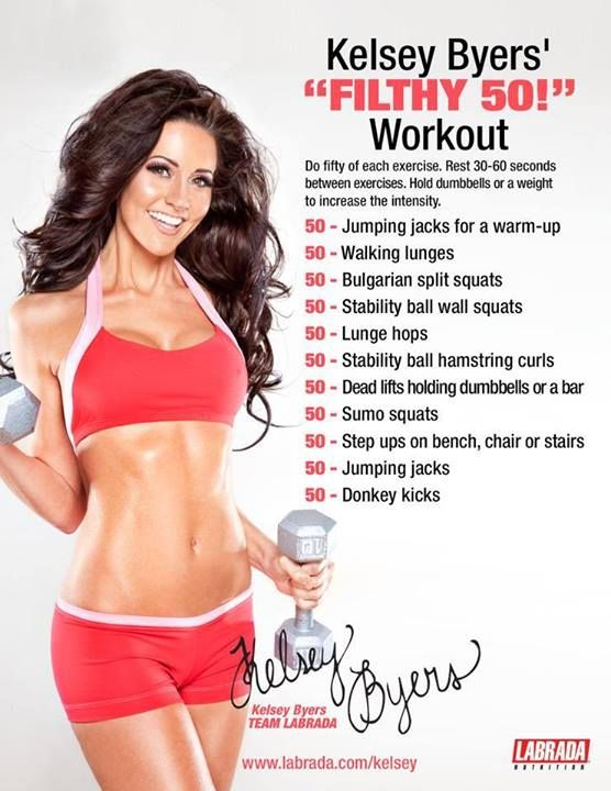 dirty 50 workout - Kelsey Byers