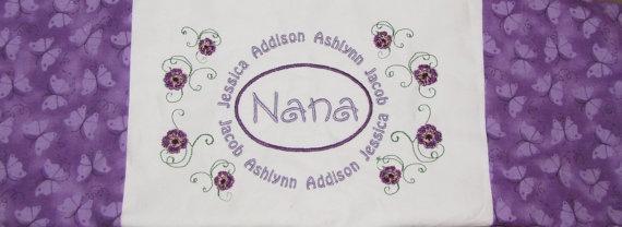 Nana: Blessed Nana, Quilts Sewing, Granny Nana, Papa Houses, Nana Things, Embroidered Pillows, Papa Zone, Nana A