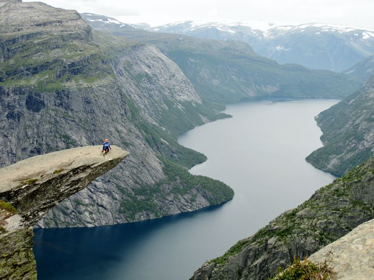 "The amazing place ""Trolltunga"" in Norway! One of the most beautiful places I've been :)"