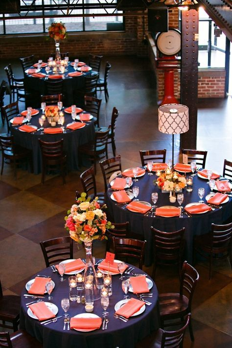 C9 Denver Wedding: Mile High Station in Navy and Coral