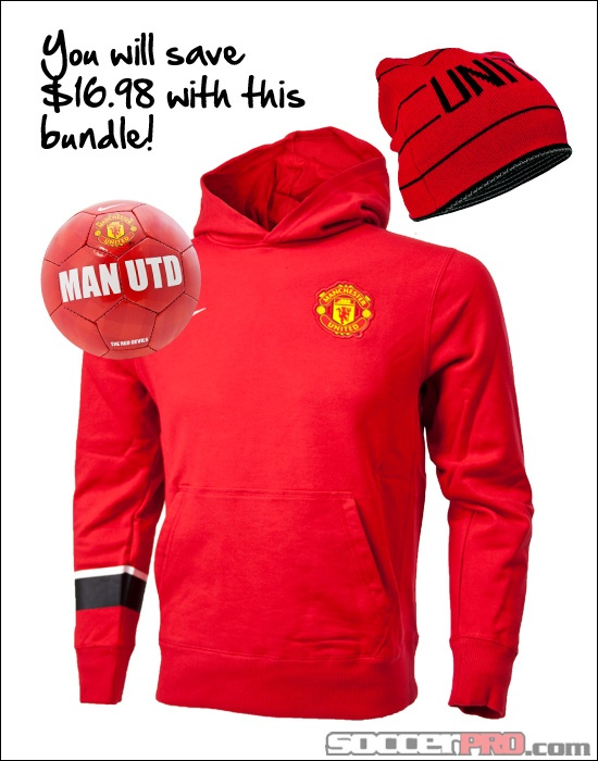 Manchester United Fan Gift Pack - Youth - Hoodie, Mini Ball and Beanie...$69.99