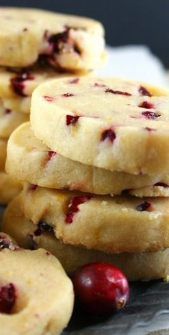 Authentic Suburban Gourmet: Cranberry and Orange Shortbread Cookies | Great Food Blogger Cookie Swap 2014