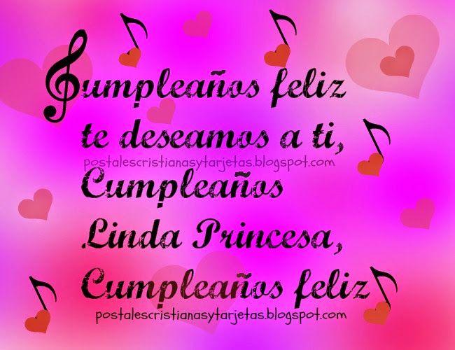Cumpleaños Feliz Linda Princesa Postales Cristianas y Tarjetas cumpleaños Pinterest