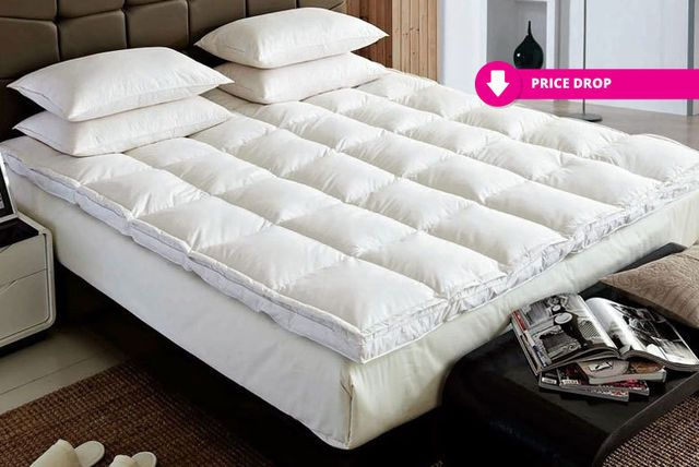 Luxury Extra Thick Duck Feather Down Mattress Topper Luxury Mattresses Mattress Mattress Topper