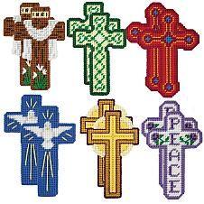 Craftways® He Is Risen Cross Ornaments Plastic Canva...