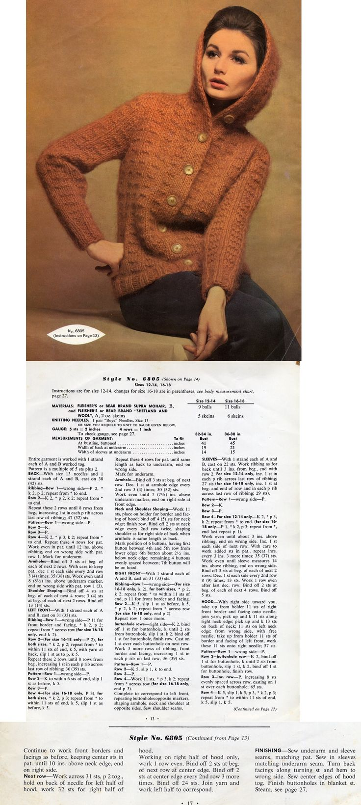 1254 best 1960\'s knitting and crochet images on Pinterest | Knit ...