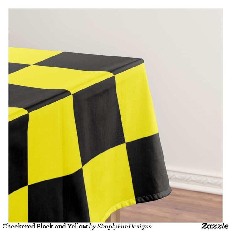 Checkered Black and Yellow Tablecloth #tablecloth #dining #tablerunner #tablelinen #homedecor #interiordesign