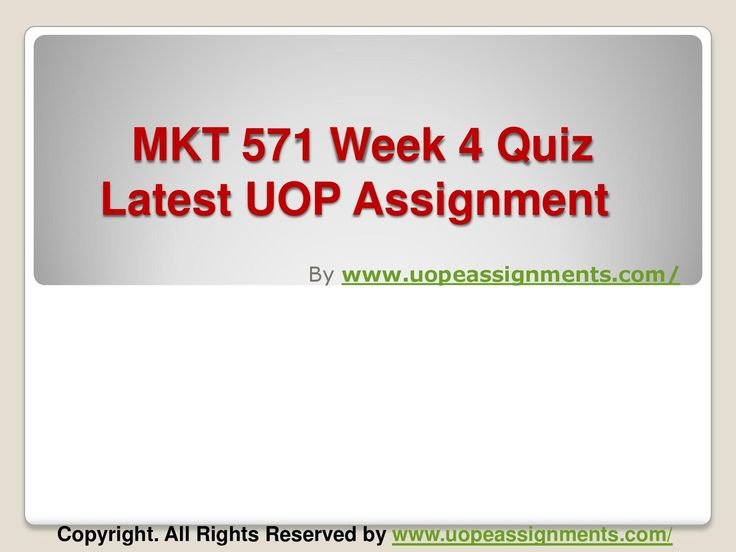 Get an A+ is quite difficult but knowing that the how to get it and still not doing so is foolish. Join http://www.UopeAssignments.com/ and we provide all the course including MKT 571 Week 4 Quiz Latest UOP Assignment that will lead you to success