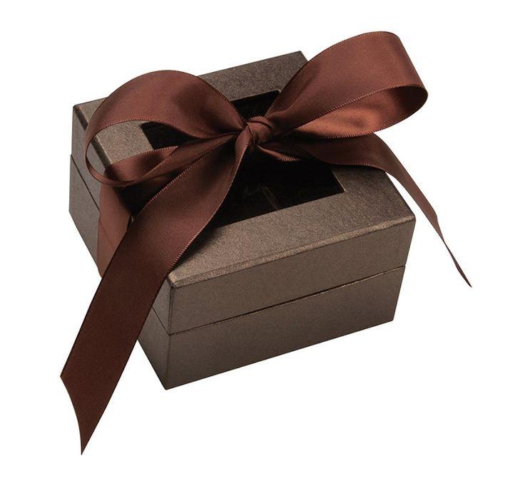 Rigid Set-up Box Window Box with Ribbon Square Deco Bronze  sc 1 st  Pinterest & 28 best Luxury u0026 Gift Boxes images on Pinterest | Gift boxes ... Aboutintivar.Com