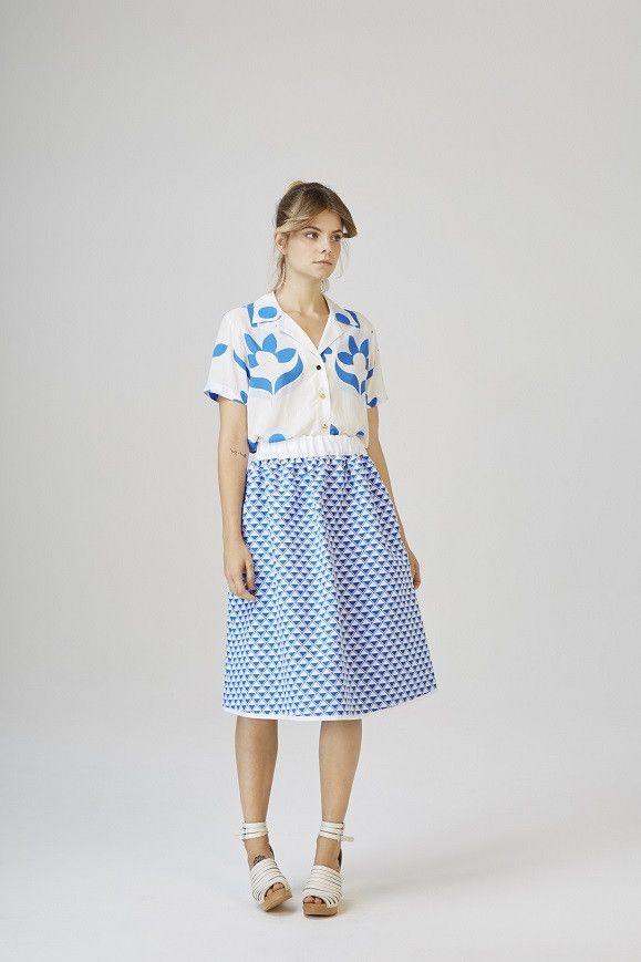 Zamardi Midi Skirt White