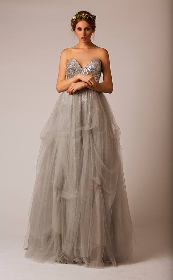 Fresh Grey wedding dress