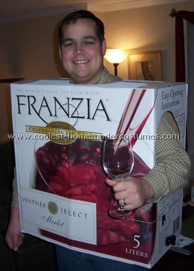 Take a look at this homemade Wine Box - good Halloween costume idea submitted to our annual  Halloween Costume Contest. You'll also find the most amazing photo gallery of homemade costumes and how-to tips for making your own.