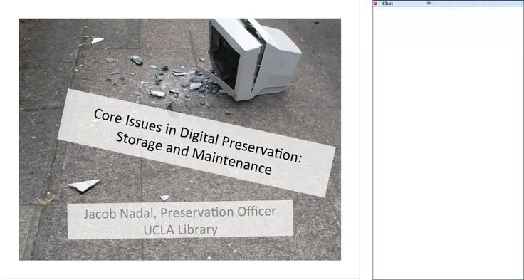Digital Preservation: Storing and Managing Digital Collections on Vimeo