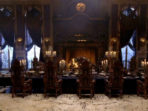 The chairs in the dining room scene from the haunted for Haunted dining room ideas