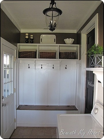 I need a mud room like this for all the children I have!