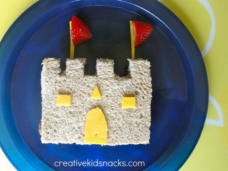 Castle sandwiches - perfect to serve at a princess party | CreativeKidSnacks.com