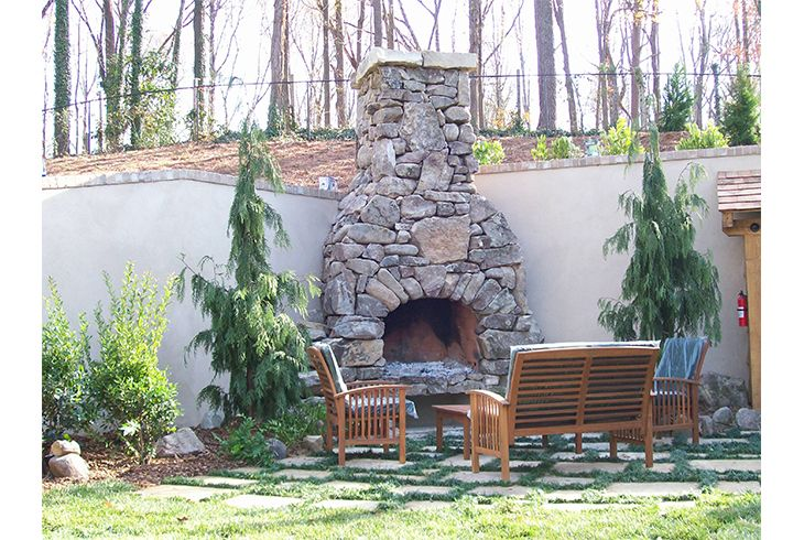 1000 images about outdoor fireplaces on pinterest for Pre engineered outdoor fireplace