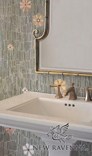 Backsplash Bathroom Mosaic New Ravenna Mosaics Mosaic