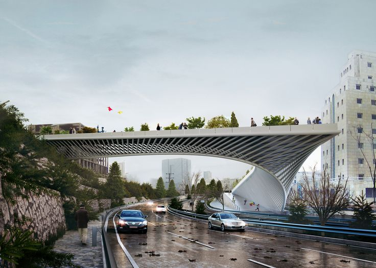 3rd Skin Architects' Haghani Pedestrian Bridge Folds Over Iranian Highway,Courtesy of 3rd Skin Architects