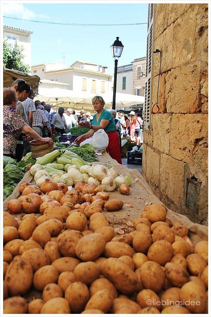 Markt in Sineu auf Mallorca.