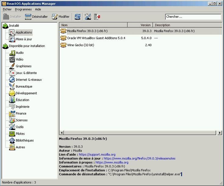 ReactOS : un Windows NT Open Source !!!