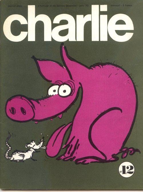Charlie Mensuel - # 12 - Janvier 1970 - Couverture de Reiser