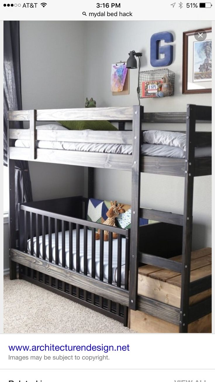 1000 Ideas About Bunk Bed Crib On Pinterest Toddler
