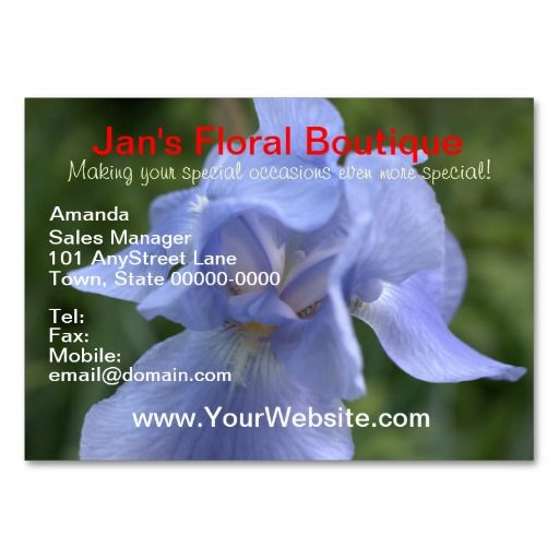 298 best zazzle business cards images on pinterest business cards pretty blue iris flower on front of business cards white mountain laurel flowers on back reheart Images