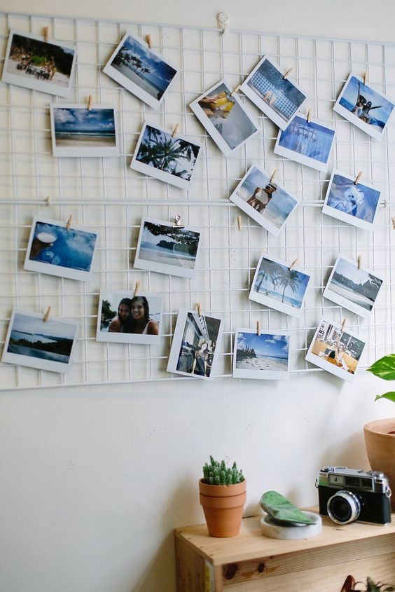 12x diy polaroid reisfotomuur inspiratie huis pinterest fotowand bastelideen und deko. Black Bedroom Furniture Sets. Home Design Ideas